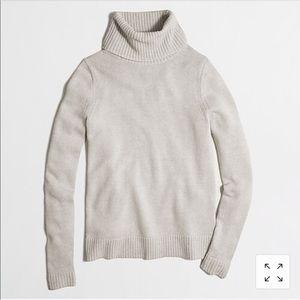 J Crew Factory oatmeal tan Turtleneck sweater 3459